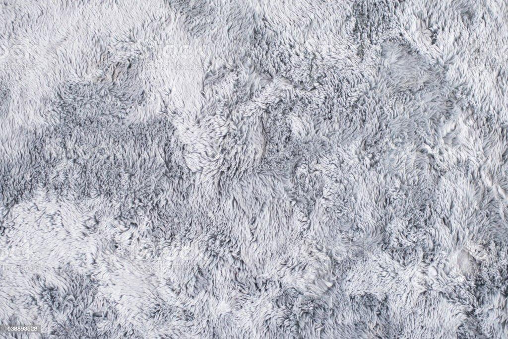 Grey Fur Carpet stock photo