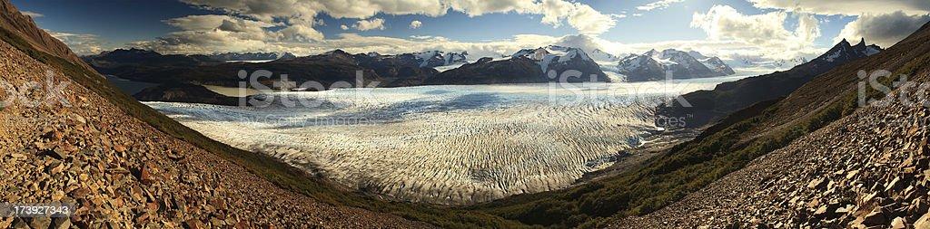 Grey Glacier Panorama royalty-free stock photo