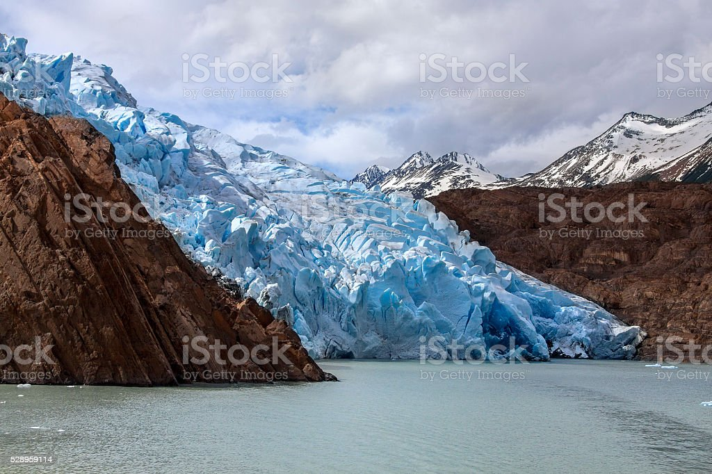 Grey Glacier - Patagonia - Chile stock photo