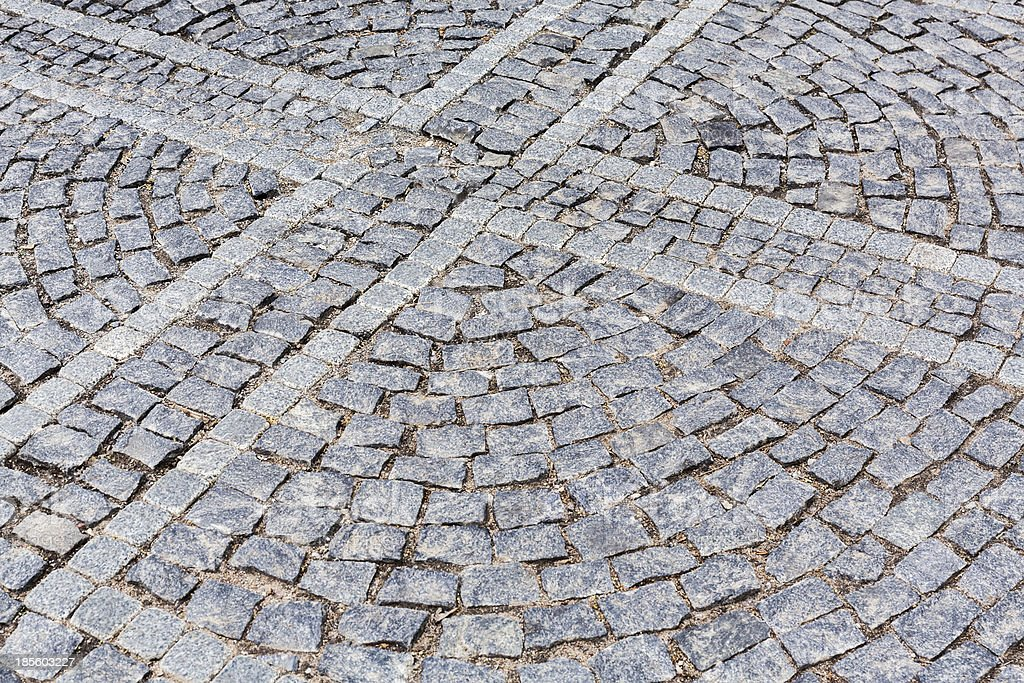 Grey granite pavement royalty-free stock photo