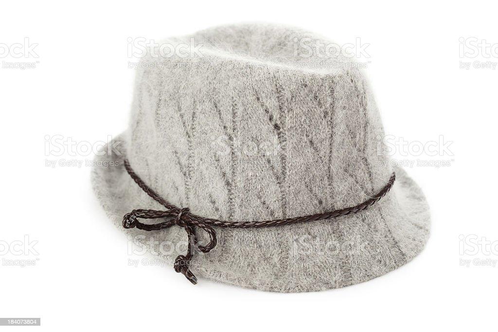 Chapéu cinzento foto royalty-free