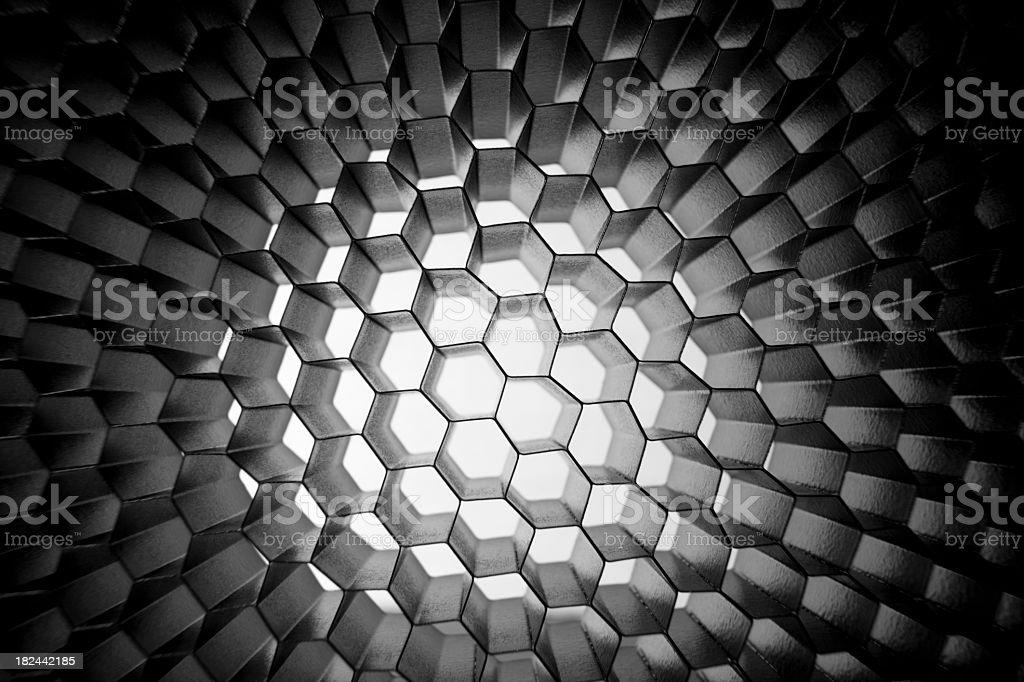 Grey Honeycomb grid background royalty-free stock photo