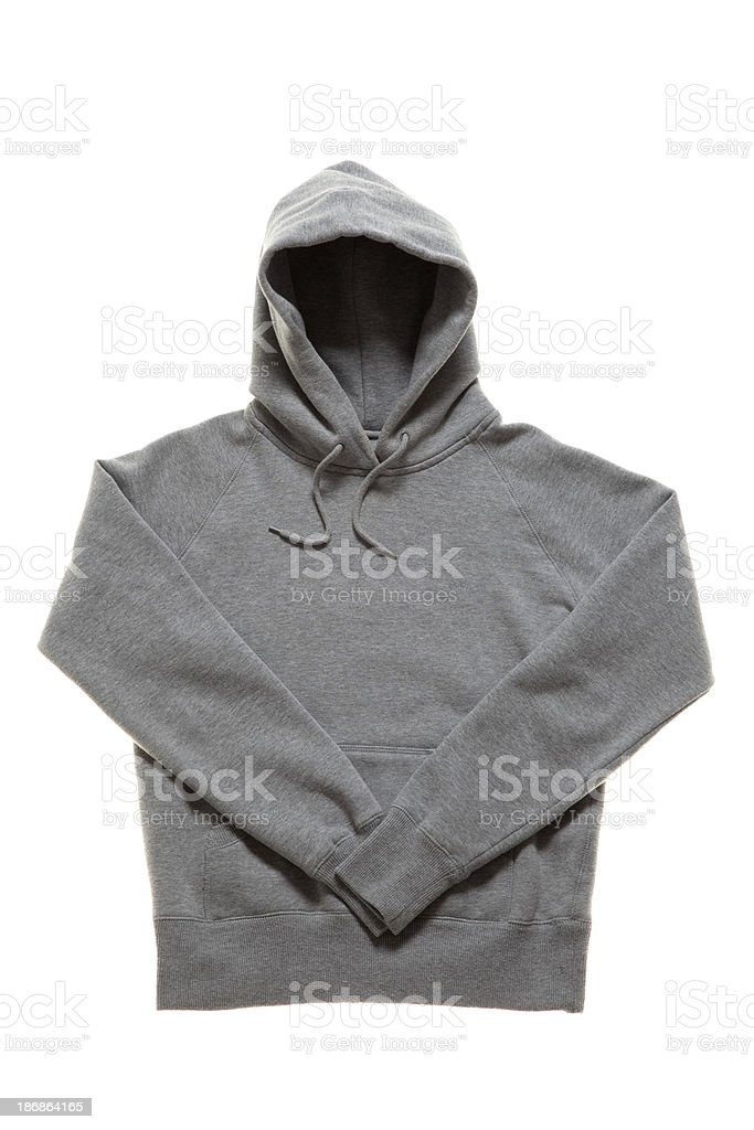 Grey Hooded Jumper stock photo