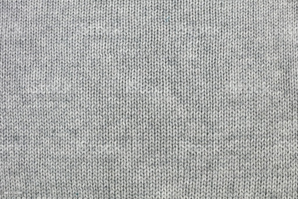 Grey knitted background stock photo