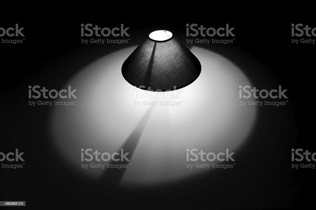 Lampe gris photo libre de droits