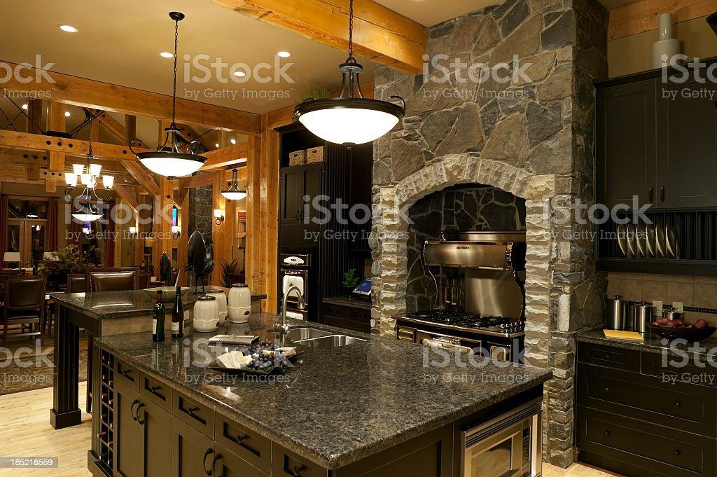 Grey marble and stone kitchen decor royalty-free stock photo