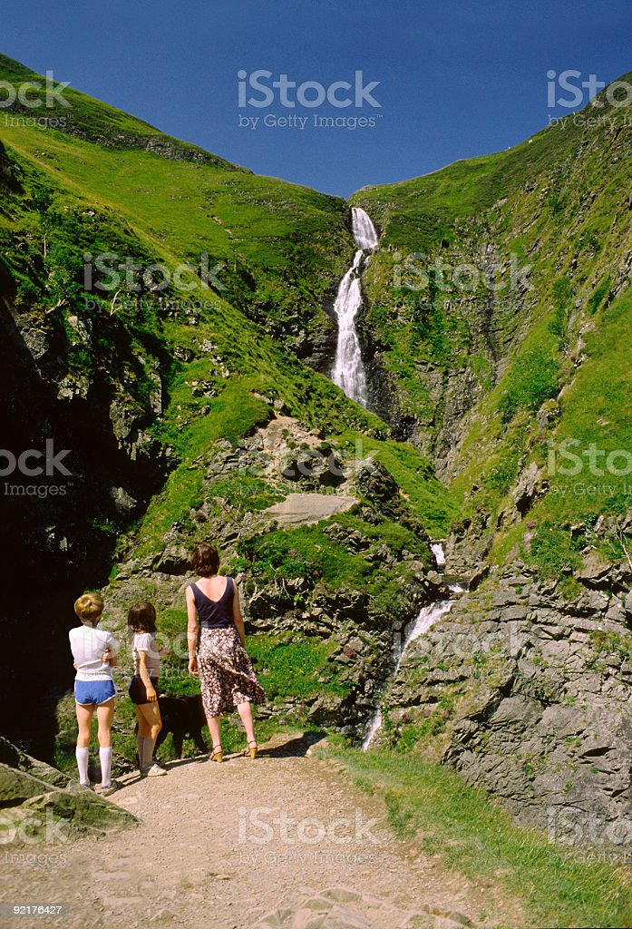Grey Mare's Tail Waterfall stock photo