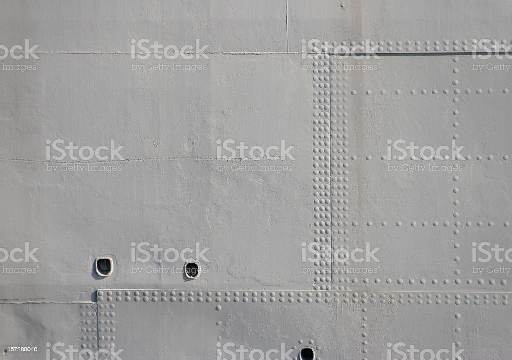 Grey Military Rivets stock photo