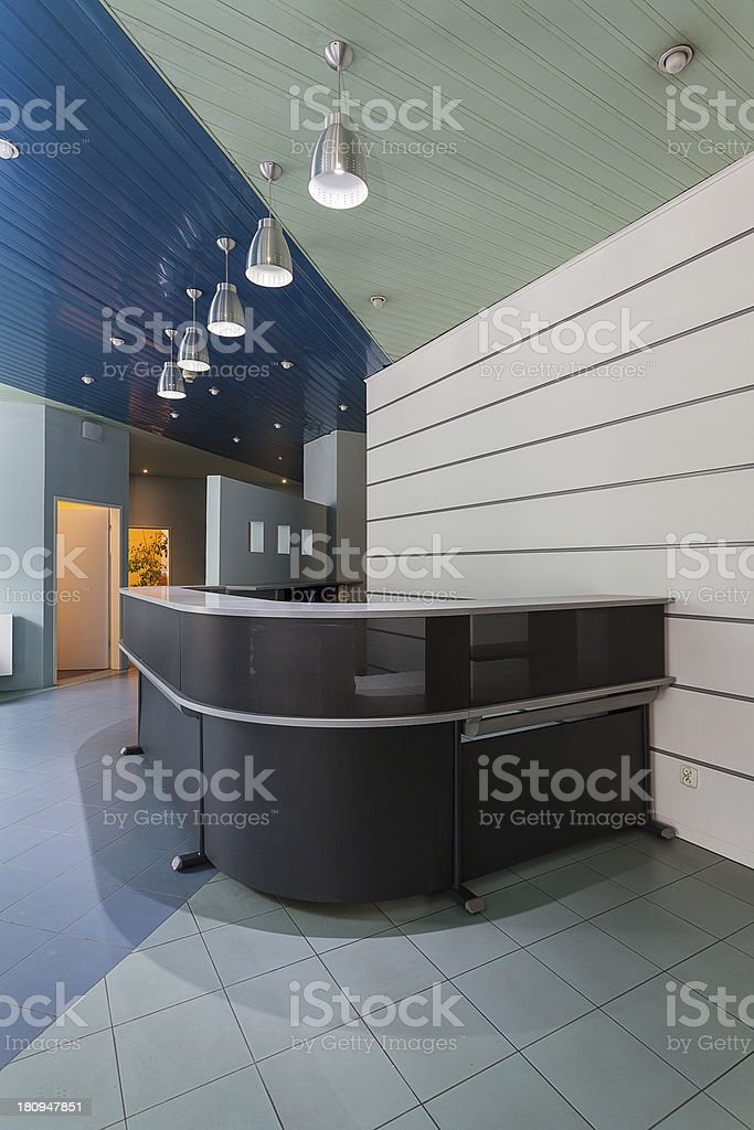 Grey modern counter royalty-free stock photo