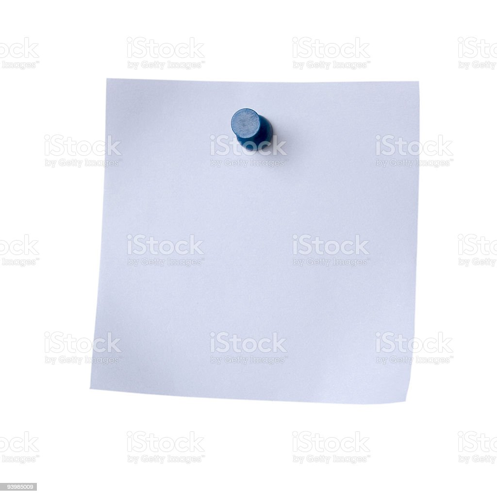 Grey Note Paper Isolated on White royalty-free stock photo