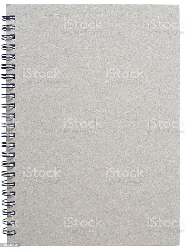 Grey notebook with ring binder stock photo