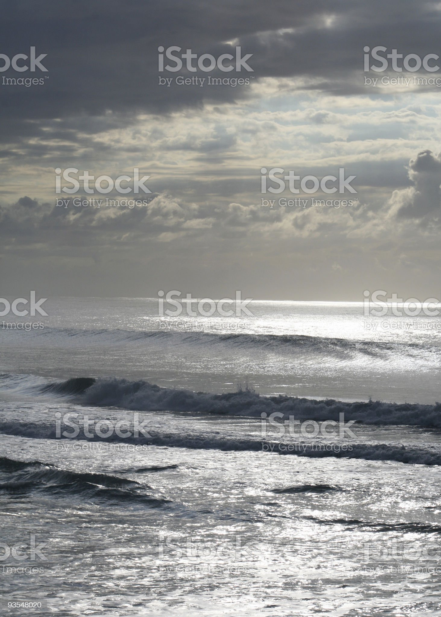 Grey ocean royalty-free stock photo