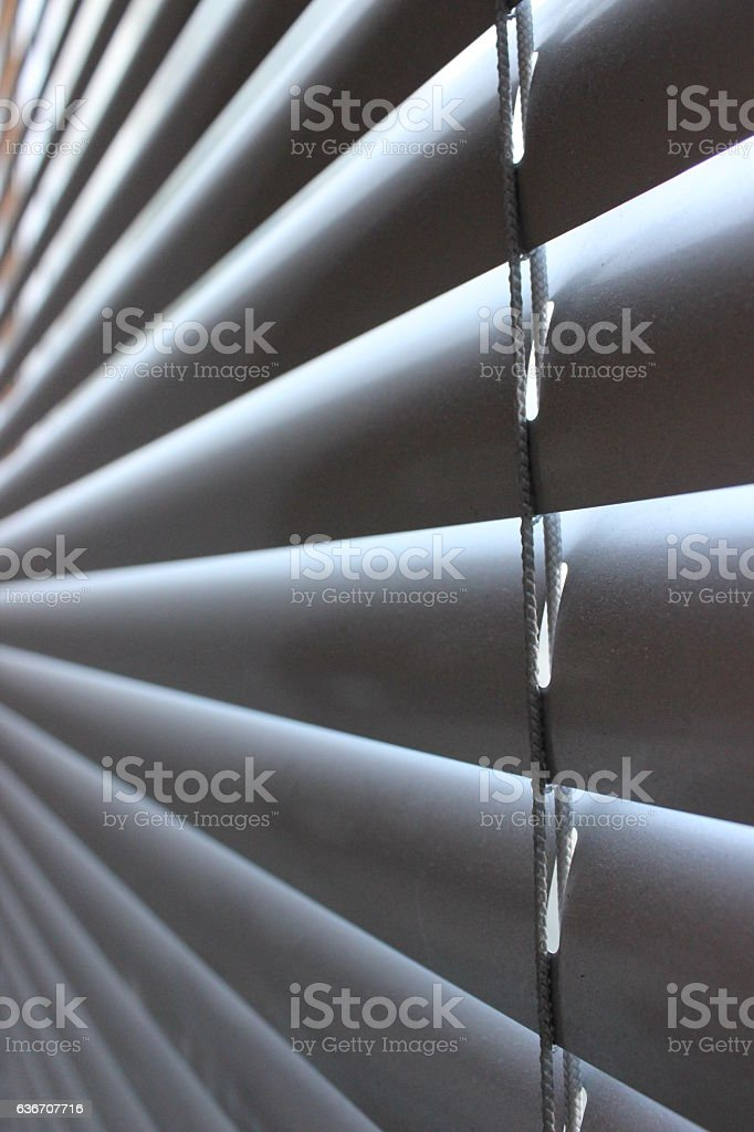 Grey office window blinds stock photo