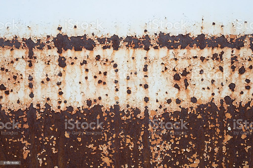 Grey Old Rust stock photo