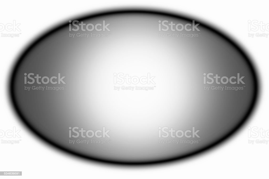 Grey oval on a white background. stock photo