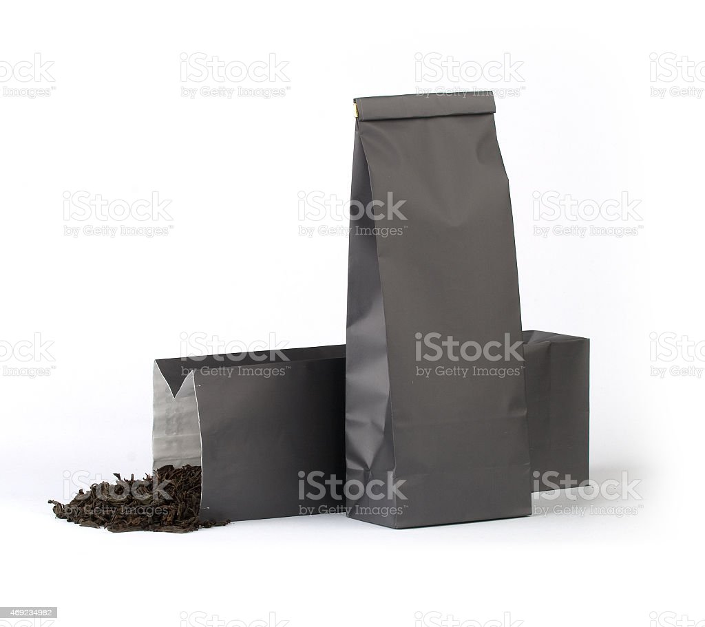 Grey package stock photo