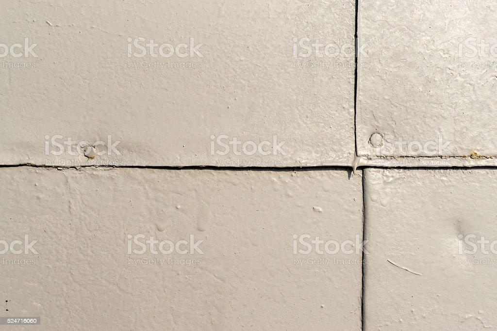 Grey Painted Metal Sheet Metal Joins stock photo