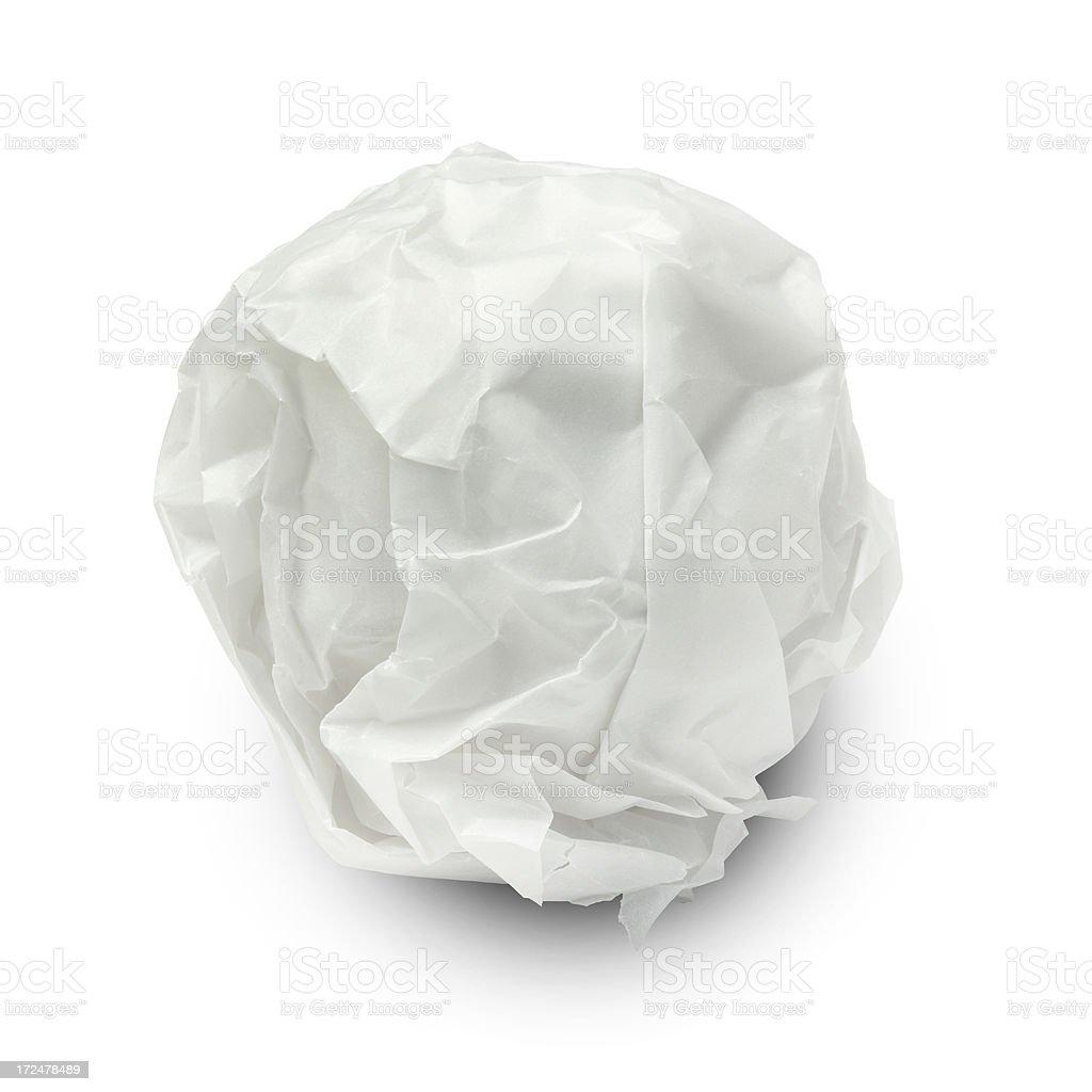 Grey Paper Ball royalty-free stock photo