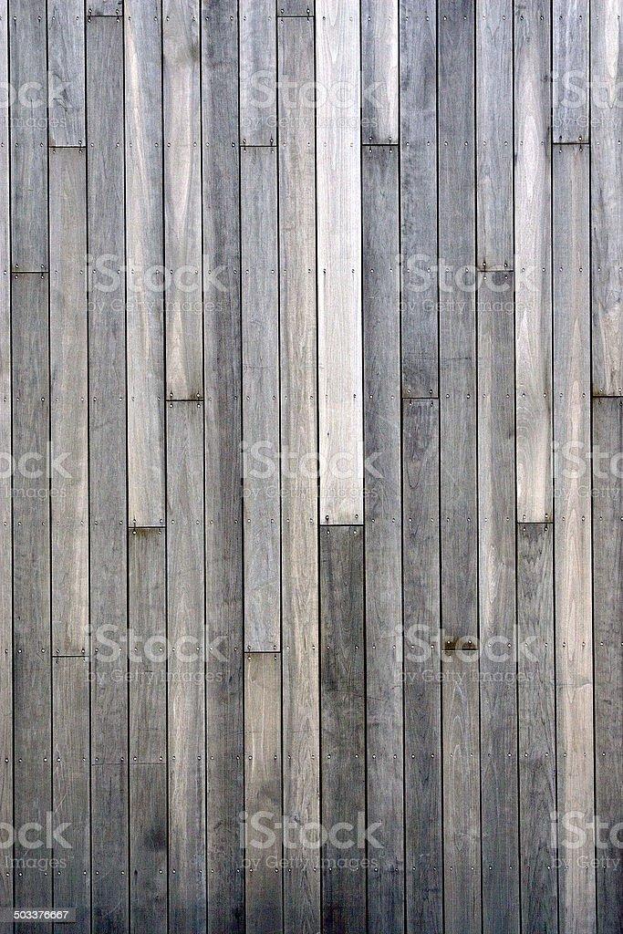 Grey Plank Wall stock photo