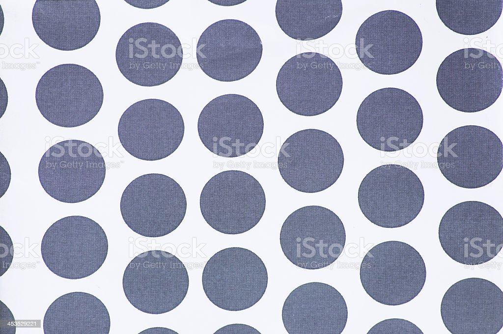 Grey polka dots on white stock photo
