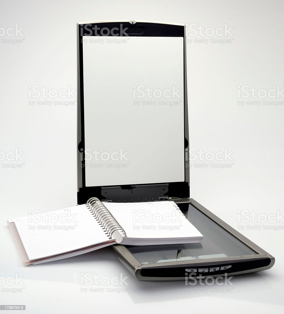 Grey scanner royalty-free stock photo