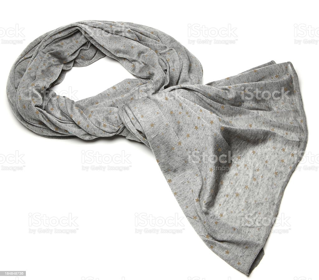 grey scarf stock photo