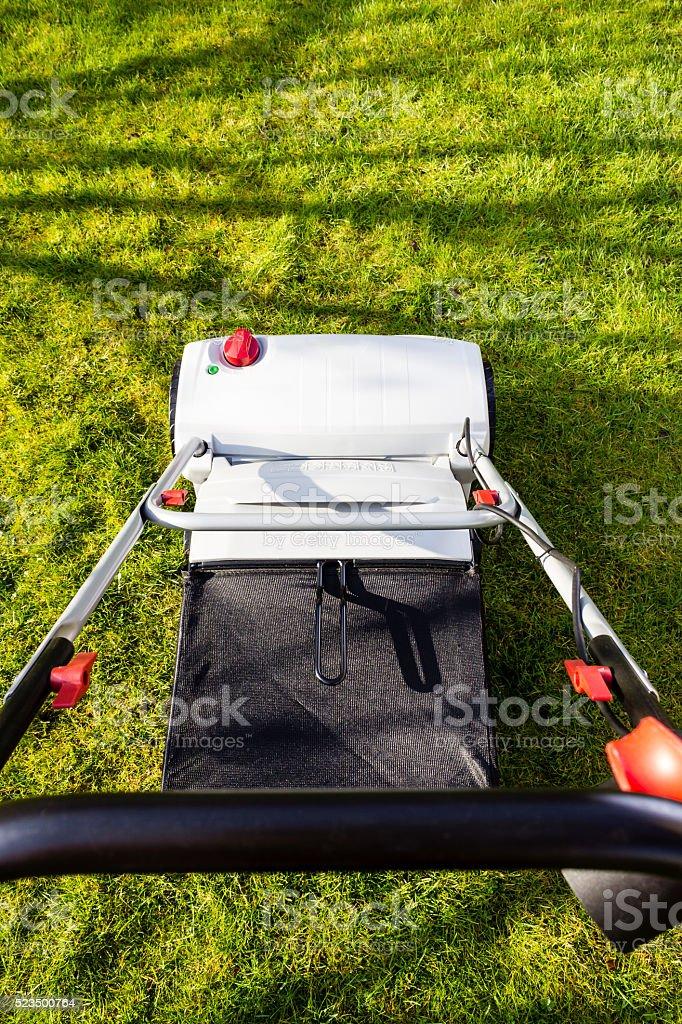 grey scarifier stock photo