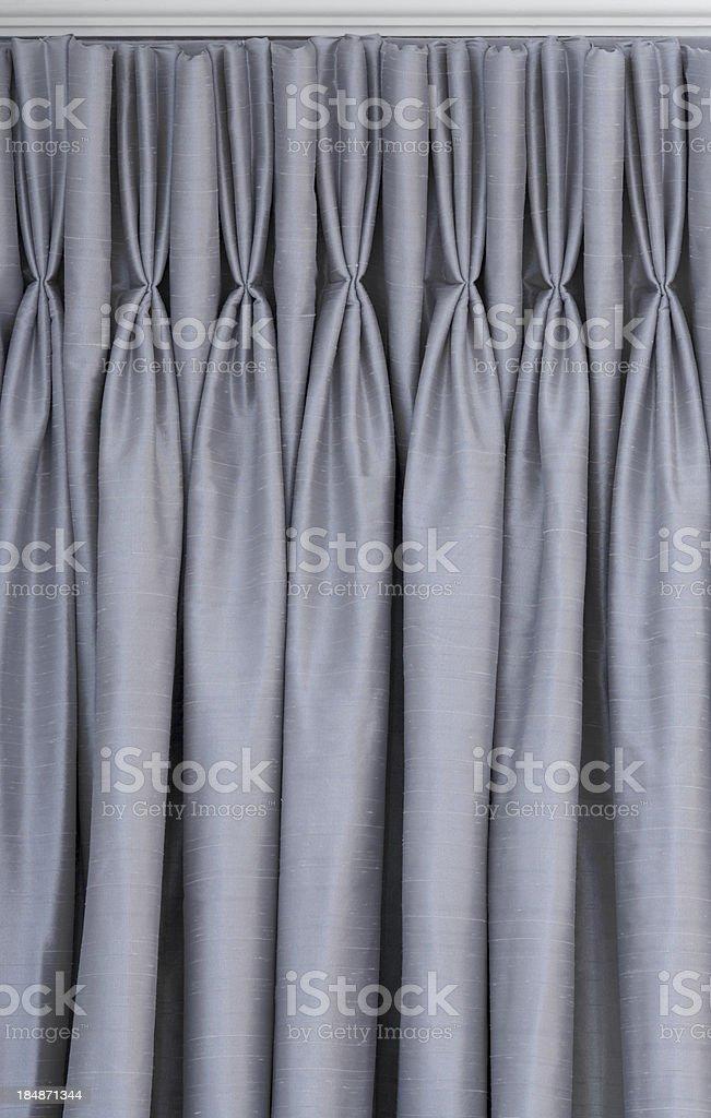 grey silk curtains stock photo