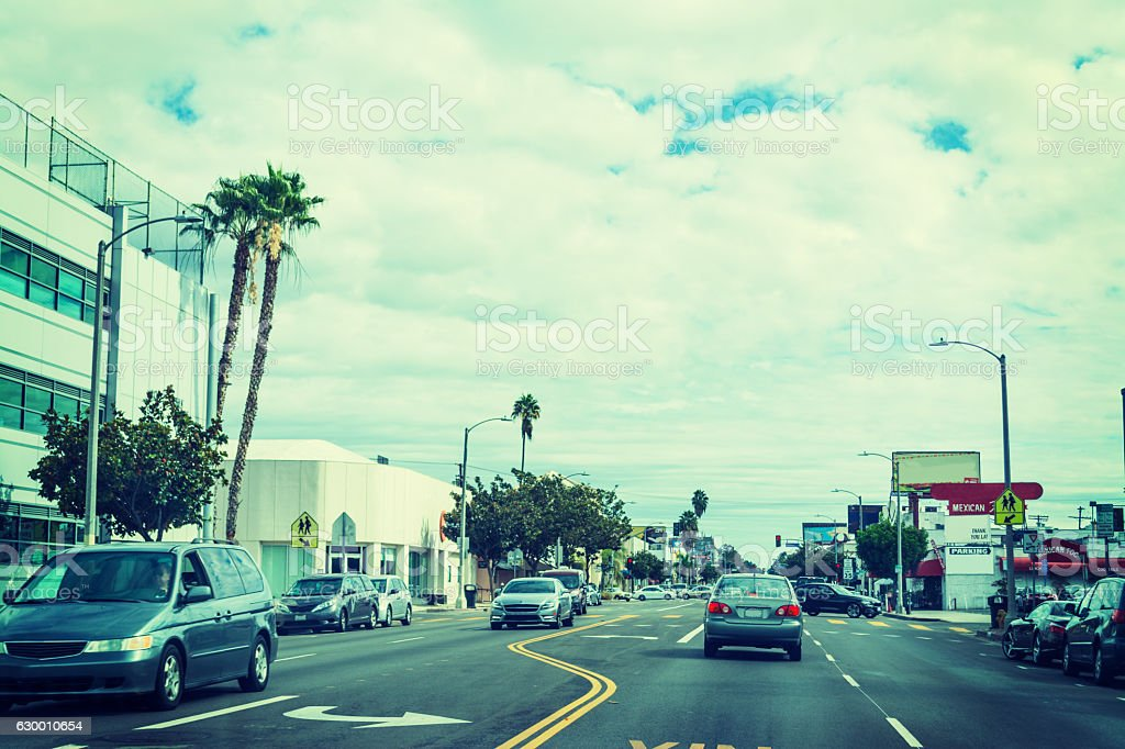 grey sky over L.A. stock photo