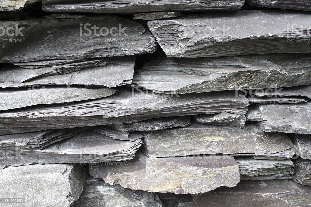 grey slate wall royalty-free stock photo