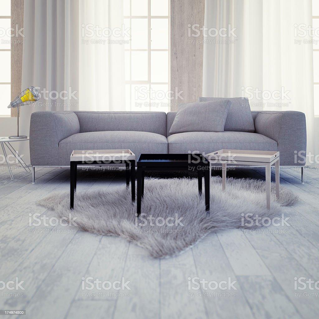 Grey sofa royalty-free stock photo