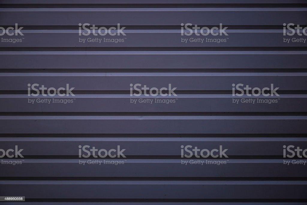 Grey Steel Roller Shutter Door stock photo