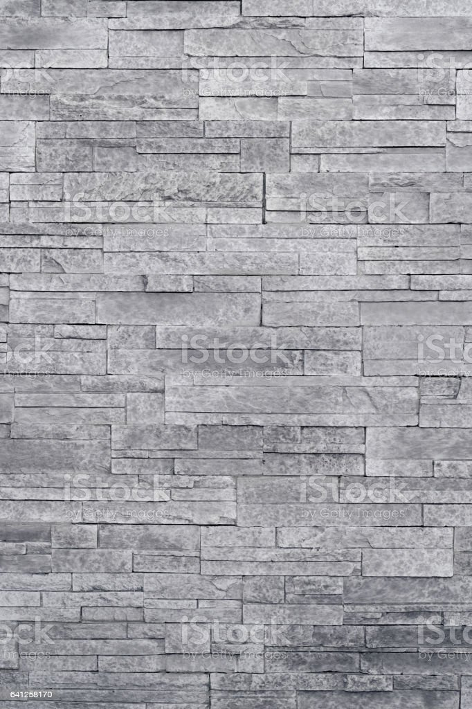 Grey stone veneer wall texture stock photo