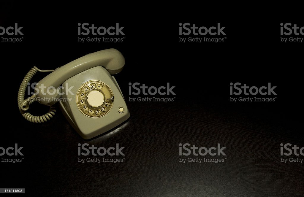 Grey telephone stock photo