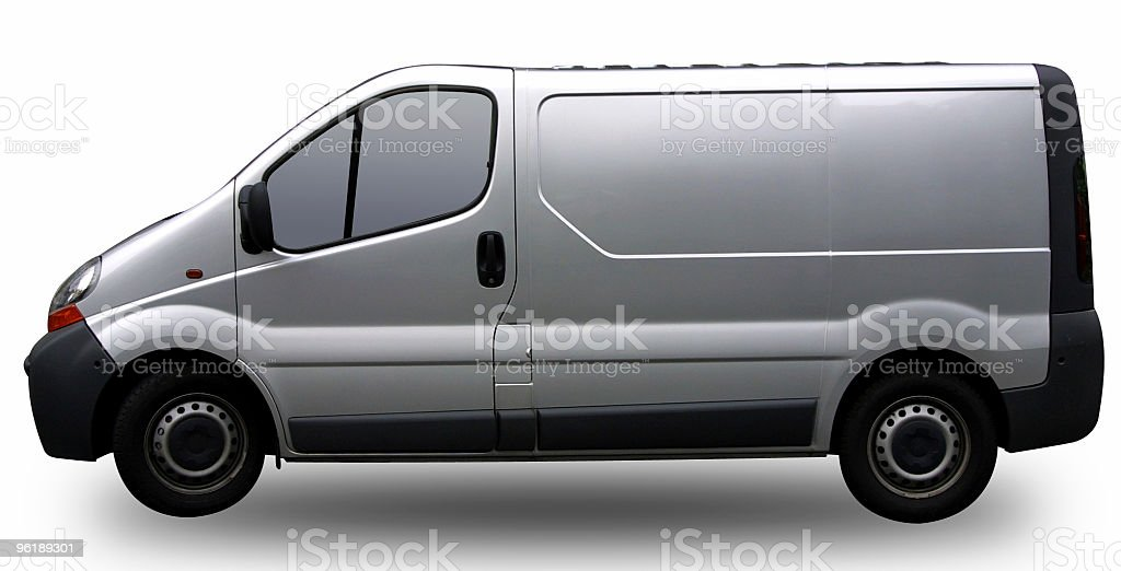Grey transporter for branding (with clipping path) stock photo