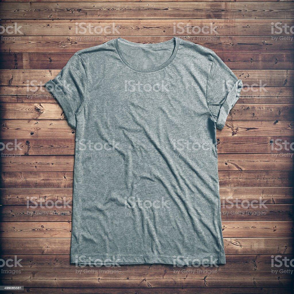 Grey t-shirt stock photo