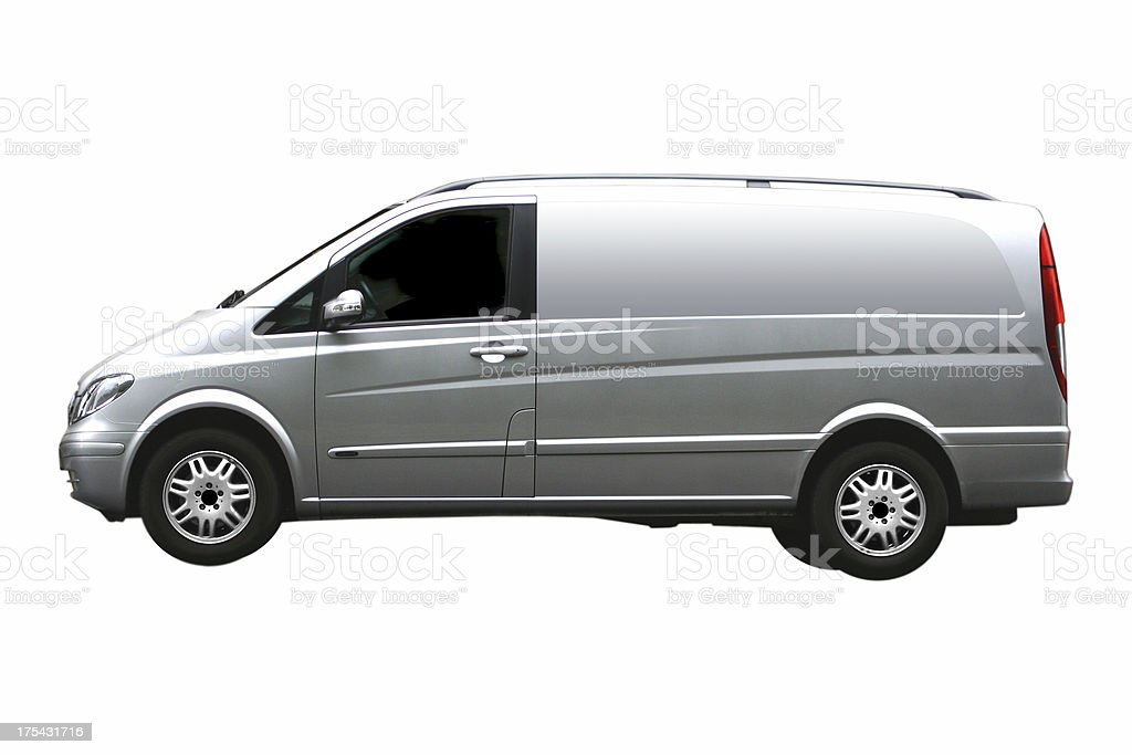 Grey Van Isolated royalty-free stock photo
