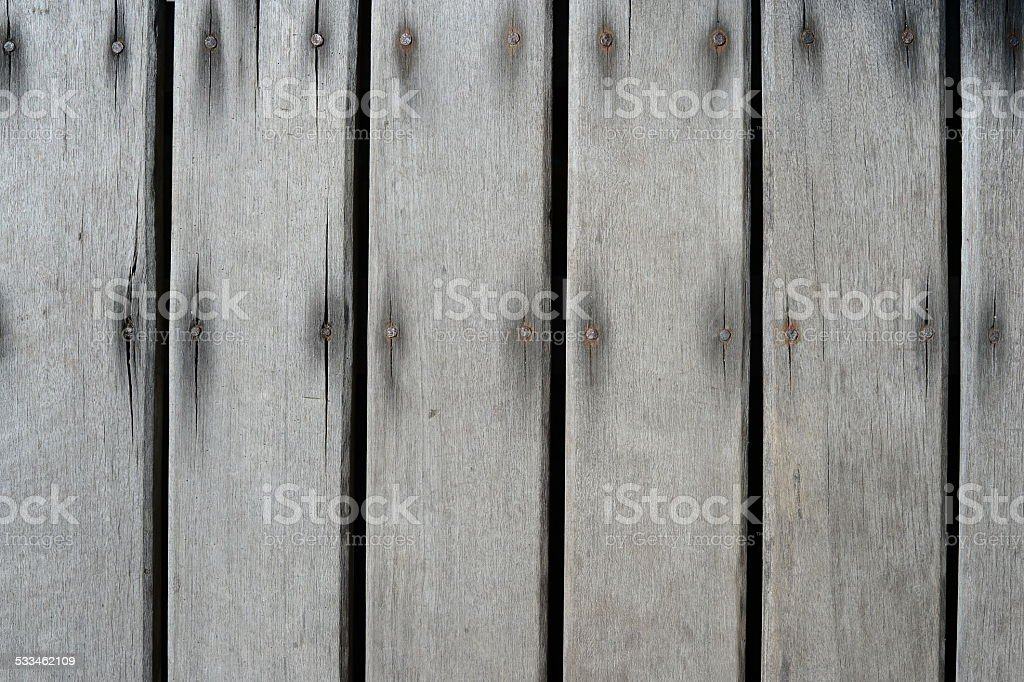 grey wood with nail pattern texture stock photo