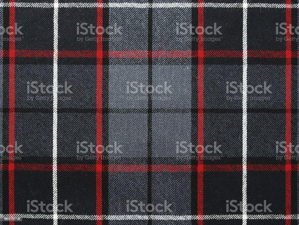 Grey wool plaid/tartan with stripe royalty-free stock photo