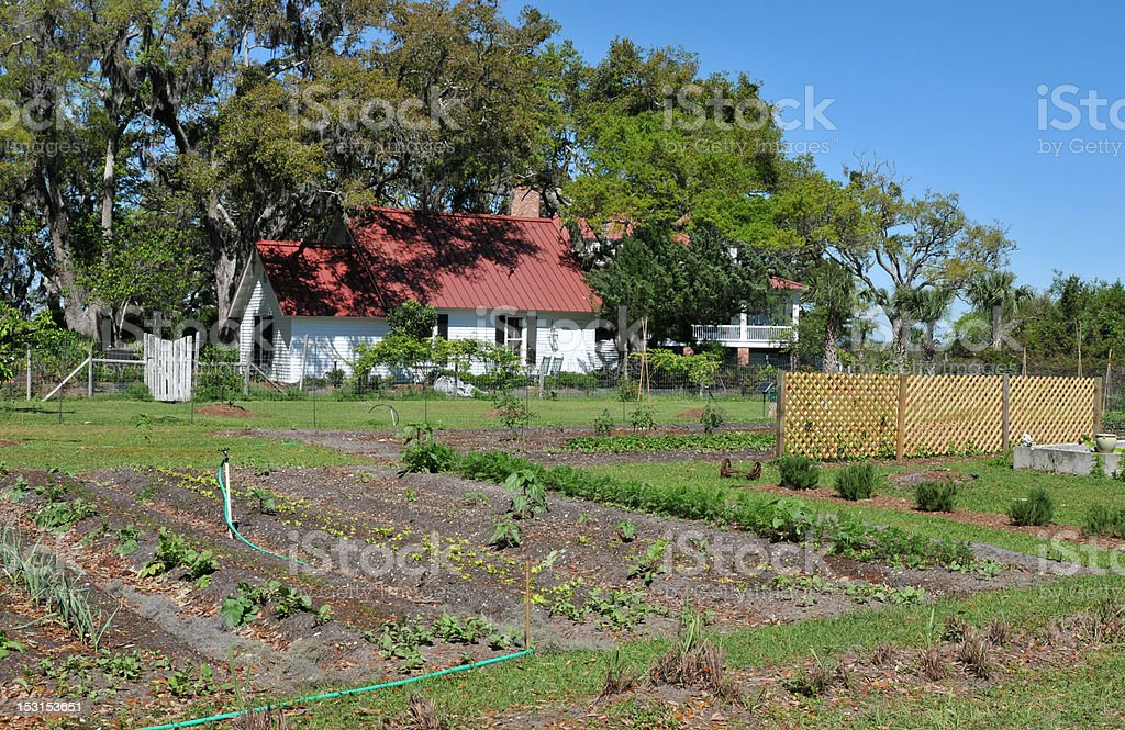 Greyfield Garden stock photo