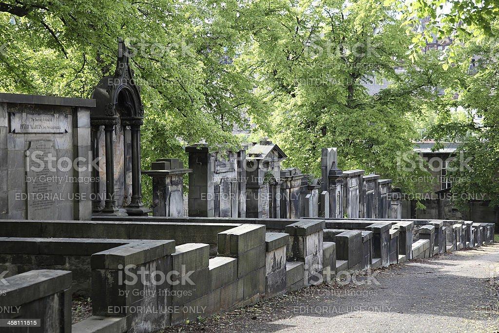 Greyfriars Churchyard royalty-free stock photo