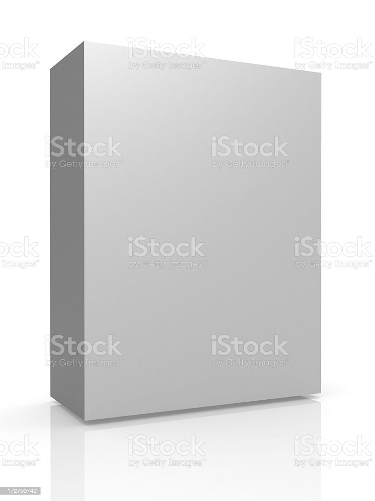 Greyscale tall container on white background with reflection royalty-free stock photo