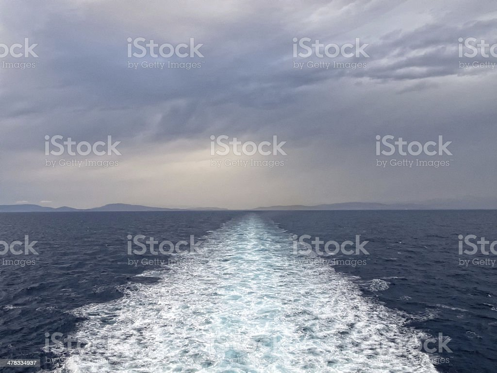 Greywater from ship stock photo