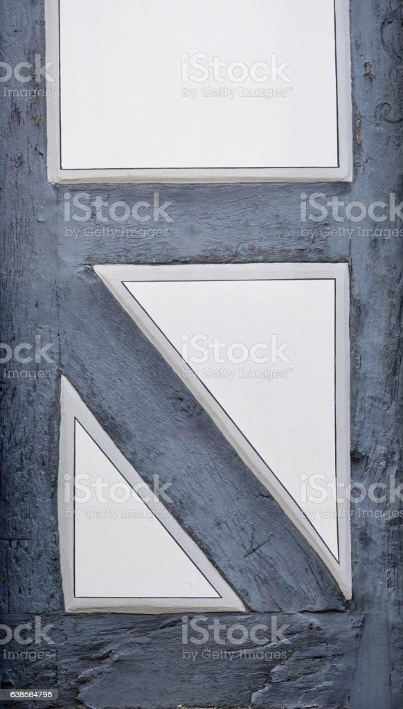 grey-white half-timber stock photo