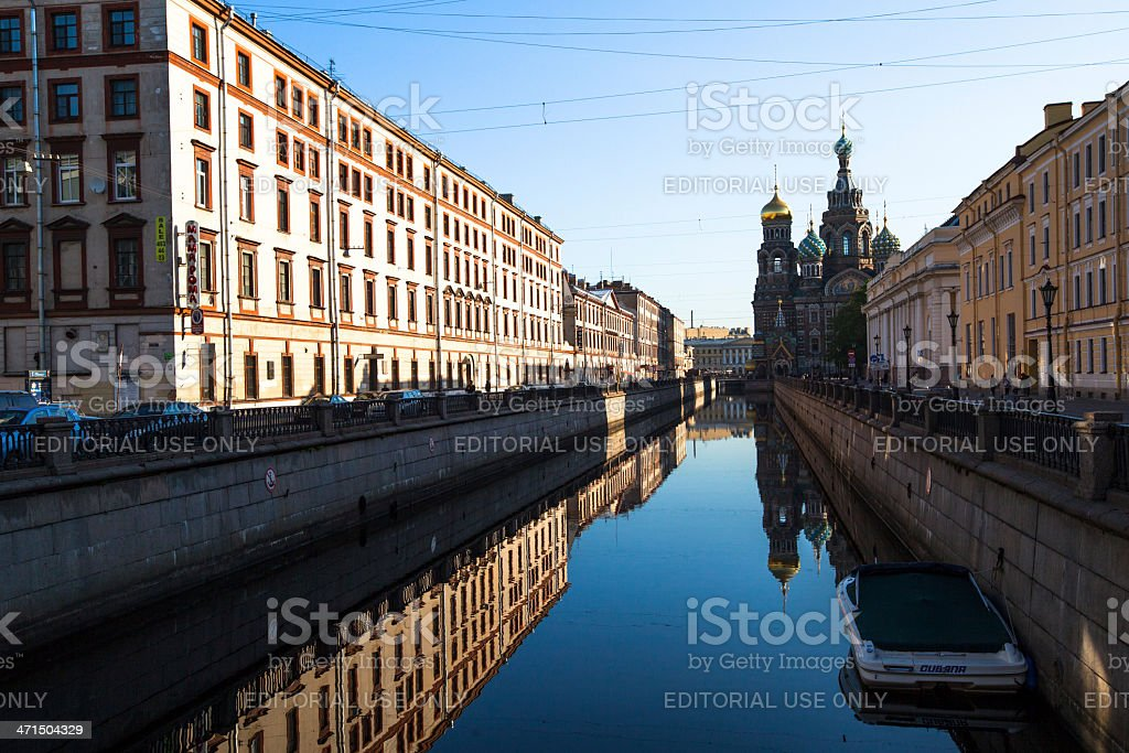 Griboyedov Canal Embankment in St.Petersburg royalty-free stock photo
