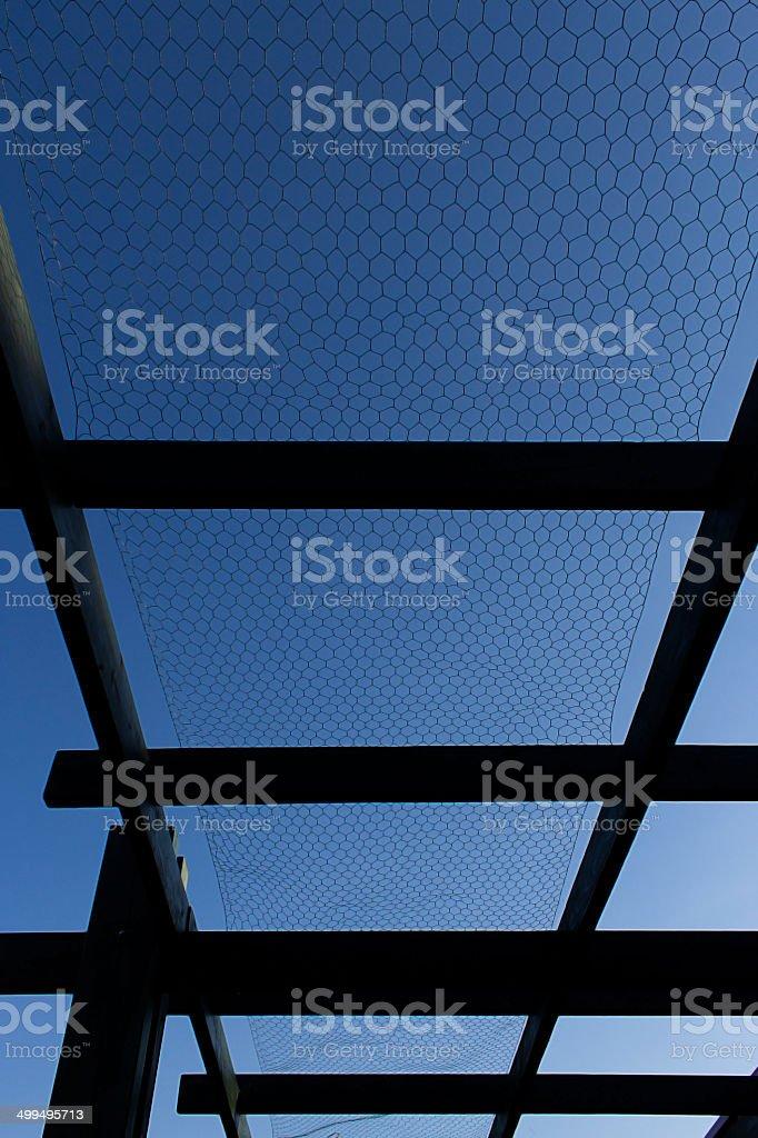Grid corridor stock photo