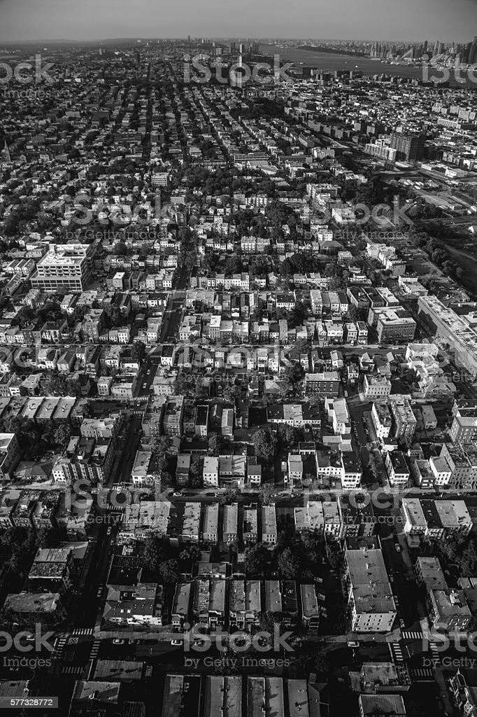 Grid of homes in New Jersey royalty-free stock photo