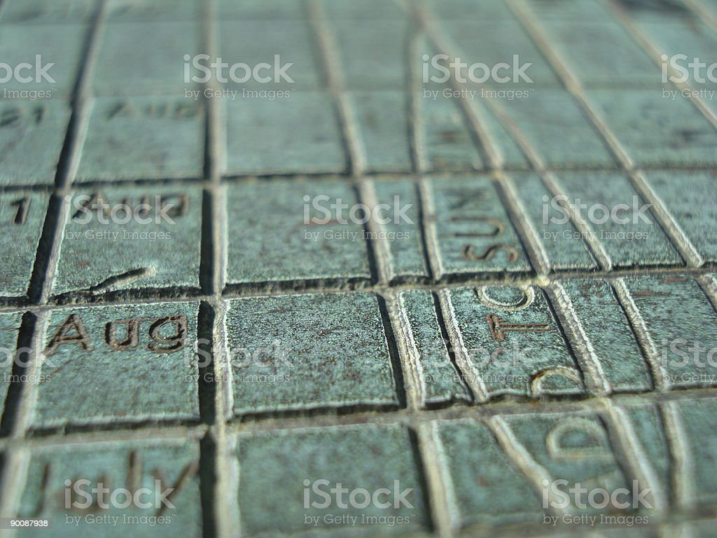 Grid of Time stock photo