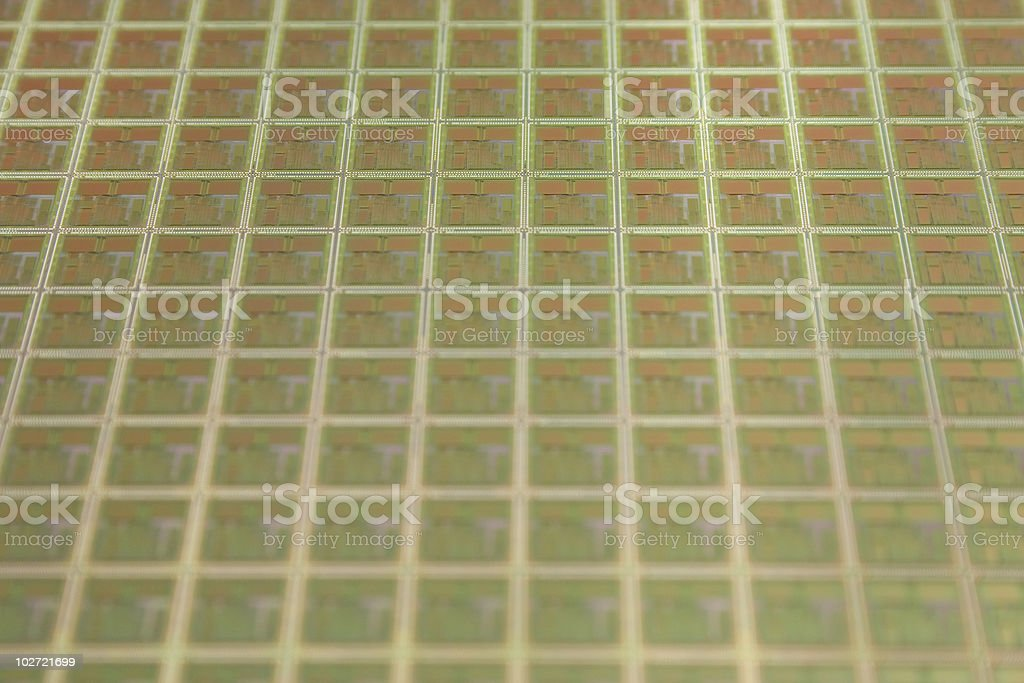Grid on a wafer stock photo