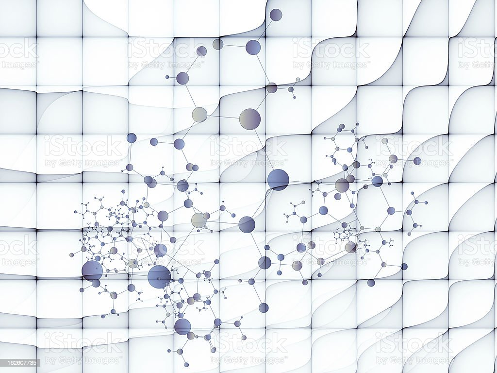 Grid Particles royalty-free stock photo